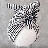 Turban gestreift schwarz/ weiß