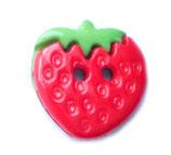 Knopf 'Erdbeere' 15mm