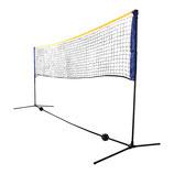 KOMBI NETZ freistehendes Freizeit-Netz für Badminton, Street-Tennis und andere Sportarten