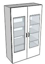Armoires à portes vitrées battantes