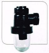 Siphon polypropylène à culot verre