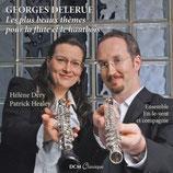 LES PLUS BEAUX THEMES POUR LA FLUTE ET LE HAUTBOIS - GEORGES DELERUE (CD)