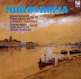 PIANO CONCERTO - CELLO CONCERTO - MIKLOS ROZSA (CD)