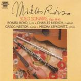 SOLO SONATAS - MIKLOS ROZSA (CD)
