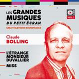 L'ETRANGE MONSIEUR DUVALLIER / MISS (MUSIQUE) - CLAUDE BOLLING (CD)
