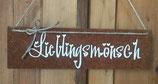 """Schild """"Lieblingsmönsch"""""""