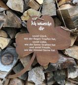 """Kleeblatt """"Ich wünsche dir"""""""