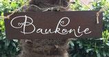 """Schild """"Baukonie"""""""