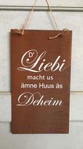 """Schild """"D'Liebi"""""""