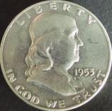 フランクリン50セント銀貨 西暦1953年