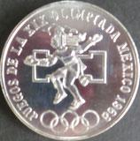 メキシコ銀貨 西暦1968年