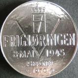 ノルウェー記念銀貨 西暦1970年Φ40