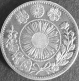 旭日竜20銭銀貨  明治3年明瞭ウロコ