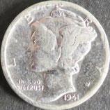 マーキュリー10セント銀貨   西暦1941年
