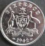 オーストラリア銀貨 西暦1942年Φ20