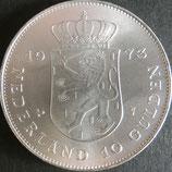 オランダ王国記念銀貨 西暦1973年  Φ39