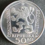 チェコスロバキア銀貨 西暦1975年