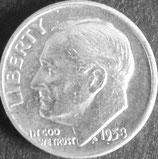 ルーズベルト10セント銀貨 西暦1958年