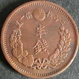 半銭銀貨 明治9年