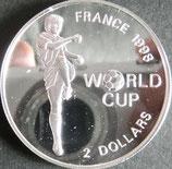 フランスサッカー大会記念プルーフ銀貨