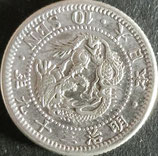 竜10銭銀貨 明治39年
