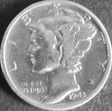マーキュリー10セント銀貨