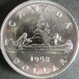 カナダ記念銀貨 西暦1952年Φ36