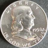 フランクリン50セント銀貨 西暦1958年