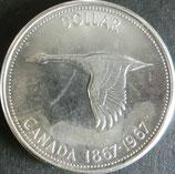 カナダ記念銀貨 西暦1967年Φ36