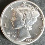 マーキュリー10セント銀貨  西暦1944年