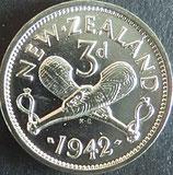ニュージーランド記念銀貨 西暦1942