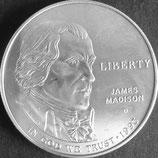 ジェームズ・マディソン1ドル銀貨 西暦1993年