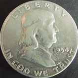フランクリン50セント銀貨1954年