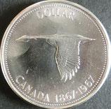 カナダ記念銀貨 西暦1967年