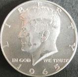 ケネディ 50セント銀貨 西暦1965年