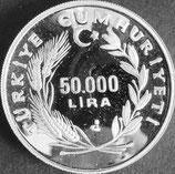トルコ共和国プルーフ銀貨