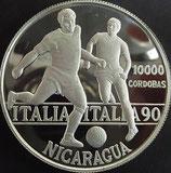 ニカラグアプルーフ銀貨