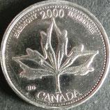 カナダ記念銀貨 西暦2000年