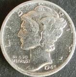 マーキュリー10セント銀貨  西暦1945年