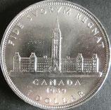 カナダ記念銀貨 西暦1939年
