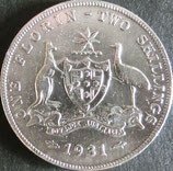 オーストラリア銀貨 西暦1931年Φ29