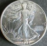 ウォーキング・リバティ1/2ドル銀貨 西暦1943年