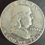 フランクリン50セント銀貨 西暦1954年