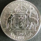 オーストラリア銀貨 西暦1963年Φ