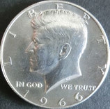 ケネディ銀貨西暦1966年