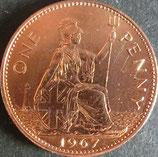 イギリス未使用銅貨 西暦1967年