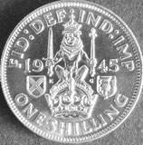 イギリス銀貨 西暦1945年