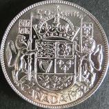 カナダ銀貨 西暦1952年