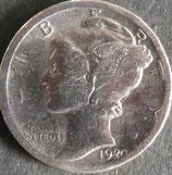 マーキュリー10セント銀貨   西暦1920年