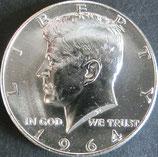 ケネディ 50セント銀貨西暦1964年
